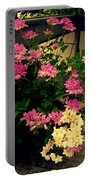 Geranium And Jasmine Portable Battery Charger