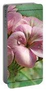 Geranium Blossoms Photoart Portable Battery Charger
