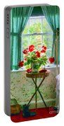Geraniums In The Bedroom Portable Battery Charger