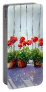 Geraniums On My Balcony Portable Battery Charger