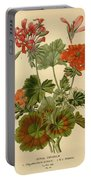 Geraniums Portable Battery Charger by Philip Ralley