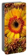 Gerbera Daisy With Mums Portable Battery Charger
