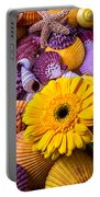 Gerbera With Seashells Portable Battery Charger