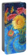Gerberas Portable Battery Charger