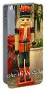 German Nutcracker - Frohe Weihnachten Portable Battery Charger