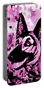 German Shepard In Purples Portable Battery Charger