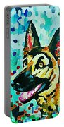 German Shepard Watercolor Portable Battery Charger