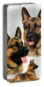 German Shepherd Collage Portable Battery Charger by Sandy Keeton