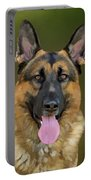 German Shepherd Portrait II Portable Battery Charger