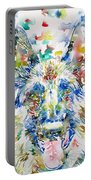 German Shepherd - Watercolor Portrait Portable Battery Charger