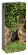 German Shepherds - Mother And Son Portable Battery Charger