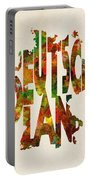 Germany Typographic Watercolor Map Portable Battery Charger by Inspirowl Design