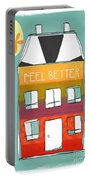 Get Well Card Portable Battery Charger by Linda Woods