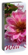 Get Well Soon - Louise Dahlia - Pink Flower Portable Battery Charger