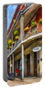 Getting Around The French Quarter - Watercolor Portable Battery Charger