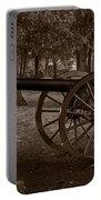 Gettysburg Cannon B W Portable Battery Charger