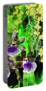 Geyser Jaimie And Golden Fantasy Orchids Portable Battery Charger