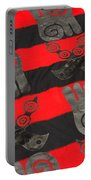Ghana In Red And Black Portable Battery Charger