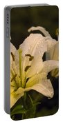 Ghost Lilies Portable Battery Charger