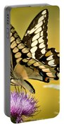 Giant Swallowtail On Thistle Portable Battery Charger