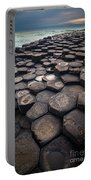 Giant's Causeway Pillars Portable Battery Charger by Inge Johnsson