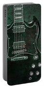 Gibson Sg Standard Green Grunge Portable Battery Charger