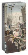 Gin Lane, Illustration From Hogarth Portable Battery Charger
