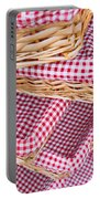 Gingham Baskets Portable Battery Charger