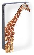 Giraffe Art - A Mother's Love - By Sharon Cummings Portable Battery Charger