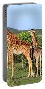 Giraffe Group On The Masai Mara Portable Battery Charger