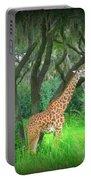Giraffe In Florida Portable Battery Charger
