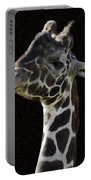 Giraffe In The Morning Pixelated Portable Battery Charger