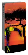 Giraffe Painting Portable Battery Charger