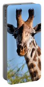 Giraffe Portrait Close-up. Safari In Serengeti. Portable Battery Charger