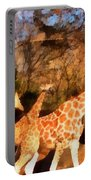 Giraffes At The Zoo Portable Battery Charger