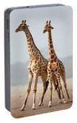 Giraffes Standing Together Portable Battery Charger