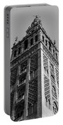 Giralda In Black And White Portable Battery Charger