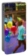 Girl And Her Balloons Portable Battery Charger