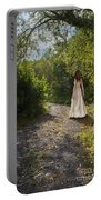 Girl In Country Lane Portable Battery Charger