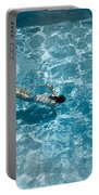 Girl In Pool Portable Battery Charger