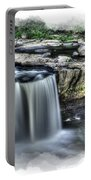Girl On Rock At Falls Portable Battery Charger by Dan Friend
