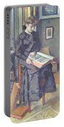 Girl Reading A Book Portable Battery Charger