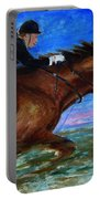 Girl Riding Her Horse II Portable Battery Charger