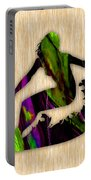 Girl Surfer Portable Battery Charger by Marvin Blaine
