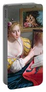 Girl With A Mirror, An Allegory Portable Battery Charger