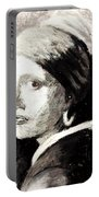 Girl With A Pearl Earring By Jan Vermeer Van Delft Portable Battery Charger