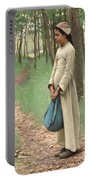 Girl With Bindle Portable Battery Charger