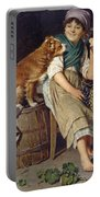 Girl With Dog Portable Battery Charger