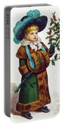 Girl With Holly Portable Battery Charger