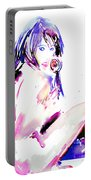 Girl With Lollipop Portable Battery Charger
